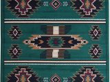 American Indian Style area Rugs Rugs 4 Less Collection southwest Native American Indian area Rug Design In Hunter Dark Green Sw3 5 X7