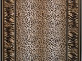 "Animal Print area Rug 5×7 5×7 La Rugs Black Animal Print Tiger area Rug 12 038 Black Aprx 5 3"" X 7"