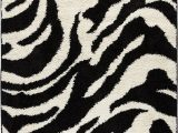 Animal Print area Rug 5×7 Well Woven Madison Shag Safari Zebra Black Animal Print area Rug 3 3 X 5 3