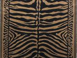 Animal Print area Rug 5×7 Zebra Skin Print area Rug Black & Gold Design D142 5 Feet X 7 Feet