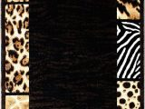 Animal Print area Rugs 8×10 Animal Print area Rug Design Skinz 73 Black 5 Feet X 7 Feet