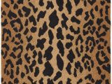 Animal Print Bath Rugs Leopard Animal Print Hand Hooked Wool Brown Black area Rug