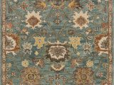 Ann and Hope area Rugs Durkee oriental Hooked Blue Wool Blue area Rug