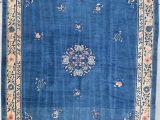 "Antique Blue oriental Rug Antique Peking Chinese oriental Rug 9'1"" X 11'7"" 7881"