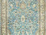 Antique Blue oriental Rug Light Blue Antique Persian Khorassan Rug by Nazmiyal