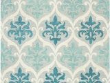 "Aqua and Cream area Rugs Rizzy Home Lancaster Collection Wool area Rug 2 6"" X 8 Blue Aqua Cream Grey Trellis"