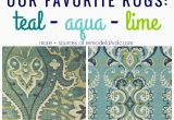 Aqua and Green area Rugs Remodelaholic