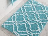 Aqua Blue Bathroom Rugs Dena Home Tangiers Bath Rug