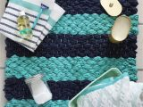 Aqua Colored Bath Rugs Chunky Woven Bath Mat Diy A Beautiful Mess
