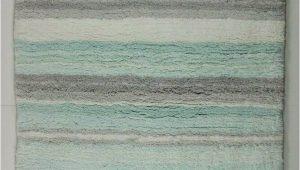 """Aqua Rug Bath Mat Dkny Bath Mat Rug Stripe 20"""" X 32"""" Aqua Blue Gray White"""