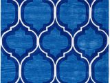 """Area Rug 5×7 Blue Pino Classic Royal Blue Moroccan Trellis area Rug 5×7 5 X 7 6"""" Modern Lattice Hand Made Carved Tufted Looped Pile Thick Plush soft Vintage Overdyed"""
