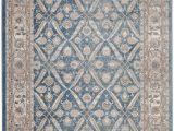 Area Rug 5×7 Blue Statham oriental Blue Beige area Rug