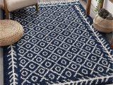 "Area Rug 5×7 Blue Well Woven Allie Blue Moroccan Shag Diamond Trellis Pattern area Rug 5×7 5 3"" X 7 3"""