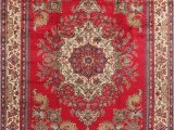Area Rug for 10×12 Room Consigned Tabriz oriental Traditional Medallion Handmade area Rug Red 10×12