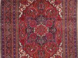 Area Rug for 10×12 Room Geometric Red Heriz Persian area Rug Wool 10×12