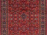 Area Rug for 10×12 Room Traditional Floral oriental area Rug Hand Knotted Room Size Wool Red 10×12