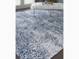Area Rug for Blue Couch orourke Damask Ivory Navy Blue area Rug area Rugs Rugs