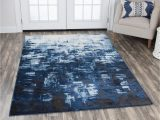 Area Rug for Blue Couch Rizzy Home Encore Contemporary Blue area Rug Rugs