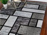 Area Rug for Grey Floors Rugs area Carpet Flooring Rug Floor Decor Modern Black