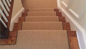 Area Rug for Stair Landing Install Of Herringbone Patterned Carpet On Steps and Landing