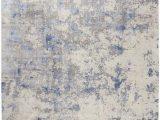 Area Rug Grey Blue Nourison Silky Textures Sly04 Blue Ivory Grey area Rug