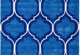 Area Rug Royal Blue Pino Modern Royal Blue Trellis Tufted area Rug