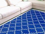 Area Rug Royal Blue Royal Blue Zanjeer Cotton Panja Dhurry