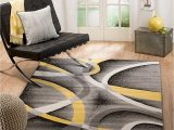 Area Rugs 30 X 45 Summit 21 New Yellow Grey area Rug Modern Abstract Many Sizes Available 3 6 X 5 3 6 X 5