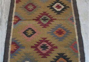 Area Rugs 30 X 48 Turkish Wool Jute Kilim Vintage area Carpet Anatolian Kilim