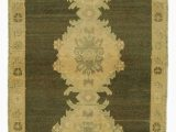 """Area Rugs Beige and Brown Beige Brown All Wool Hand Knotted Vintage area Rug 3 1"""" X 6 9"""" 37 In X 81 In"""