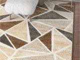 Area Rugs Beige and Brown Modern Geometric Brown Beige Dark Grey area Rugs – Modern