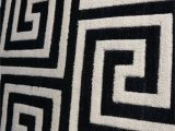 Area Rugs Black and White Pattern Wool & Viscose Blend Carpet & Rugs