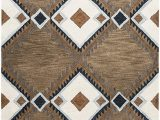 """Area Rugs Blue and Tan Rizzy Home Tumble Weed Loft Collection Wool area Rug 2 6"""" X 8 Multi Navy Blue Light Blue Dark Taupe Camel F White"""