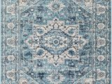 Area Rugs by Bungalow Rose Leaver Floral Teal Navy area Rug