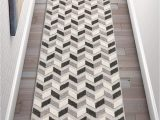 """Area Rugs for High Traffic areas Well Woven Maui Grey Indoor Outdoor Chevron area Rug 2×7 2 3"""" X 7 3"""" Runner High Traffic Stain Resistant Modern Geometric Carpet"""