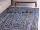 Area Rugs for Sale by Owner Bohemian Hand Braided Colorful Cotton Chindi area Rug Multi