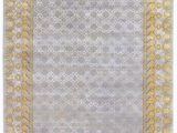 Area Rugs Gold and Gray Exquisite Rugs Khotan Hand Knotted 5017 Gray Gold area Rug