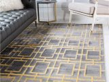 Area Rugs Gold and Gray Gray Gold Marilyn Monroe 5 X 8 Marilyn Monroe™ Glam Deco