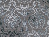 Area Rugs Grey and Teal Concord Global Trading thema 2966 Damask Teal Gray area Rug
