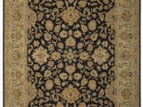 Area Rugs Larger Than 9×12 E Of A Kind Modn Mughal Hand Knotted 9 X 12 Wool Black Green area Rug