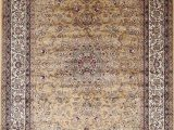Area Rugs Made In Belgium Gold New Silk Traditional isphan area Rugs Ultra Low Pile 5 2×7 6 160x230cm