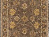 Area Rugs Made In India Plemmons oriental Handmade Tufted Wool Dark Brown Camel area Rug