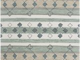 "Area Rugs Tan and Gray Rizzy Home Resonant Collection Wool area Rug 2 6"" X 8 Gray Ivory Tan Blue Gray Sage Green Dark Green Tribal Motif"