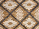 Area Rugs Tan and Gray southwest Bohemian Tan Ivory Gray Flatweave Wool area Rug