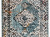 Area Rugs Teal and Brown Elianna Medallion Teal Cream area Rug