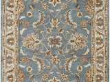 Area Rugs Teal and Brown Rizzy Home Volare Collection Wool area Rug 3 X 5 Blue Brown Tan Blue Lt Teal Lt Brown Border