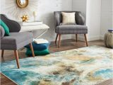 Area Rugs that Look Like Water Shop Mohawk Home Prismatic Shoreline Water area Rug 5 X