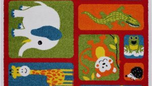 Area Rugs with Animals On them Adorable Animals Red area Rug