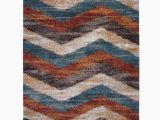 Area Rugs with Blue and Browns Teasley Chevron Blue Brown Beige area Rug