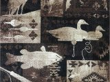 Area Rugs with Deer On them Carpet King Cabin Style area Rug Fish Duck & Deer Wildlife Country Lodge Design 383 5 Feet 2 Inch X 7 Feet 3 Inch